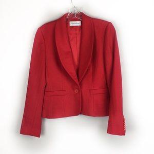 Vintage Evan Picone Red Tailored Blazer